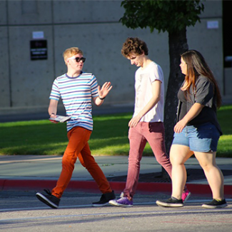 teens walking
